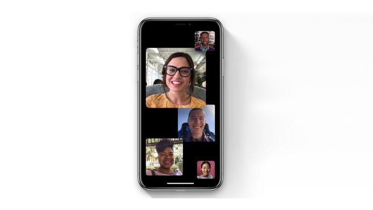 Der Facetime-Gruppenchat kann bis zu 32 Gesprächspartner aufnehmen.