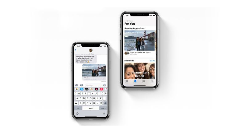 Intelligentes Teilen von Fotos mit iOS 12
