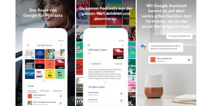 Google Podcasts können Sie jetzt aus dem Play Store laden