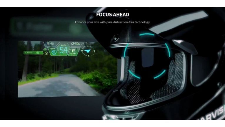 AR-Motorradhelm mit Siri, Alexa oder Google Assistant