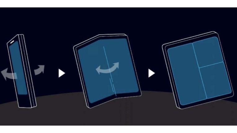 So funktioniert der faltbare Touchscreen.