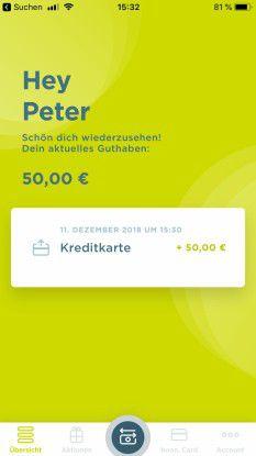 Das Guthaben steht dann für Apple Pay zur Verfügung