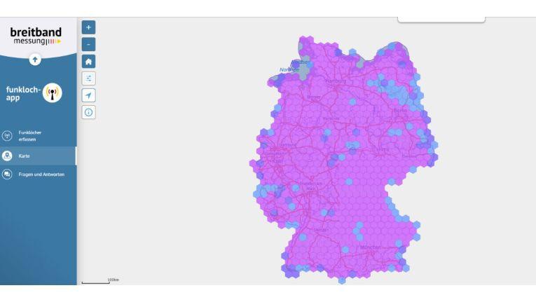 Abdeckung laut Funkloch-App: Bundesnetzagentur veröffentlicht Funkloch-Karte