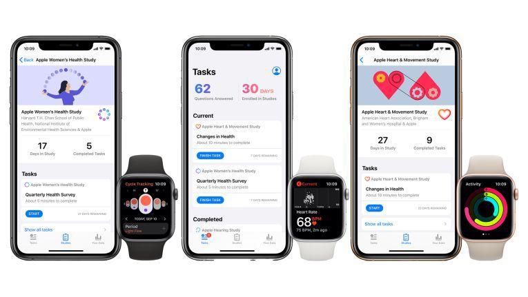 Für iPhone und Apple Watch: Apple startet mit neuer Research App drei neue Gesundheitsstudien