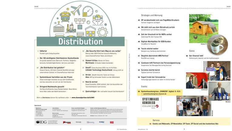 """Deutschlands Distributoren: ChannelPartner-Ausgabe """"Distribution"""" sichern"""