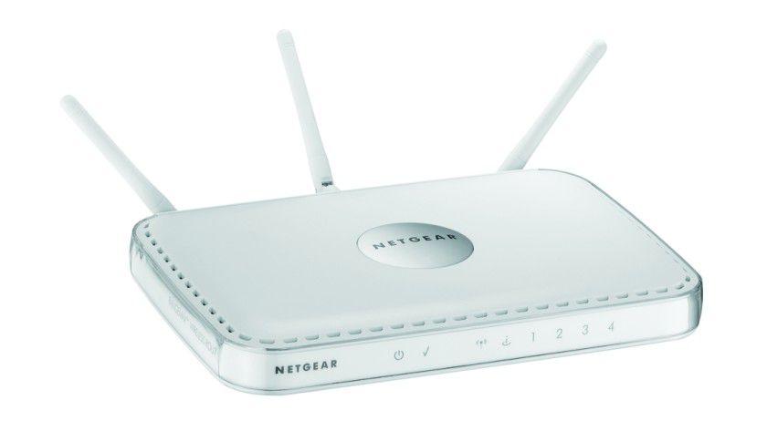WLAN-Router mit 240 Mbit/s: Netgears RangeMax 240 WPNT834 arbeitet mit der MIMO-Technik von Airgo. (Quelle: Netgear)