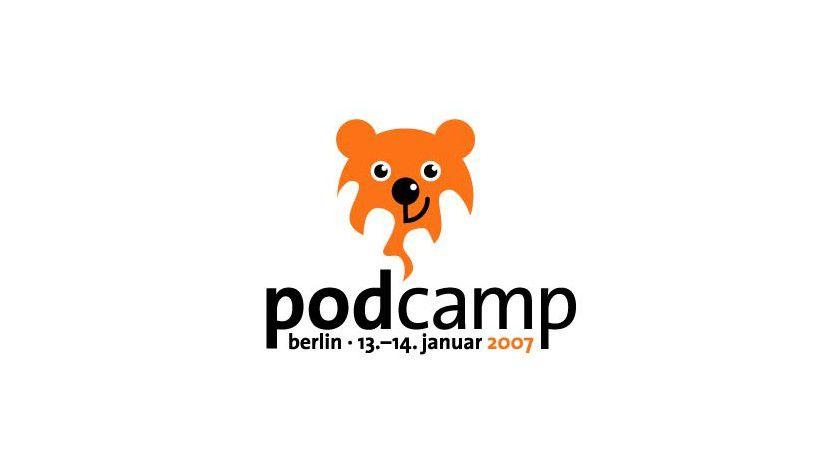 Logo zum ersten deutschen PodCamp in Berlin. Abb.: Podcast
