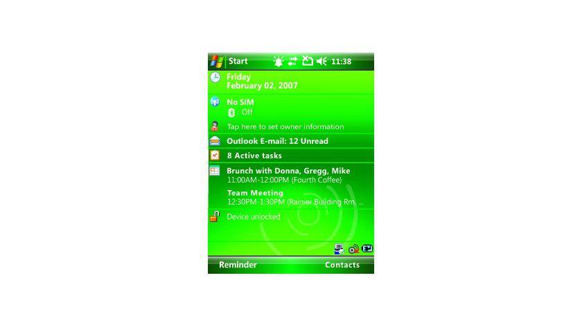 Tagesansicht: Der neue Today-Bildschirm von Windows Mobile 6. (Quelle: Microsoft)