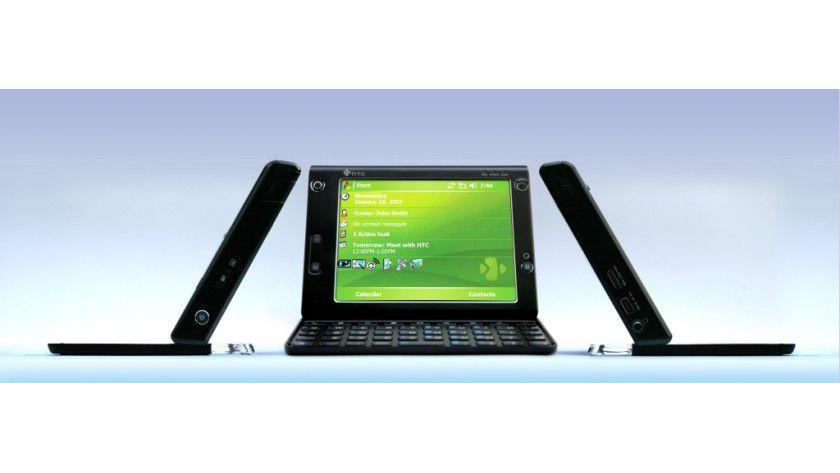 UMPC-Konkurrenz: Mit dem Advantage will HTC dem Laptop den Kampf ansagen. (Quelle:HTC)
