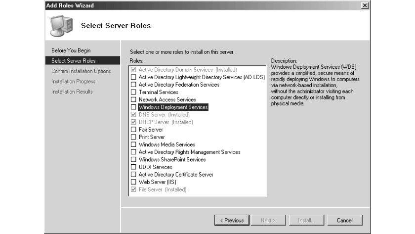 Bild 1: Die Windows Deployment Services werden als neue Serverrolle eingerichtet.