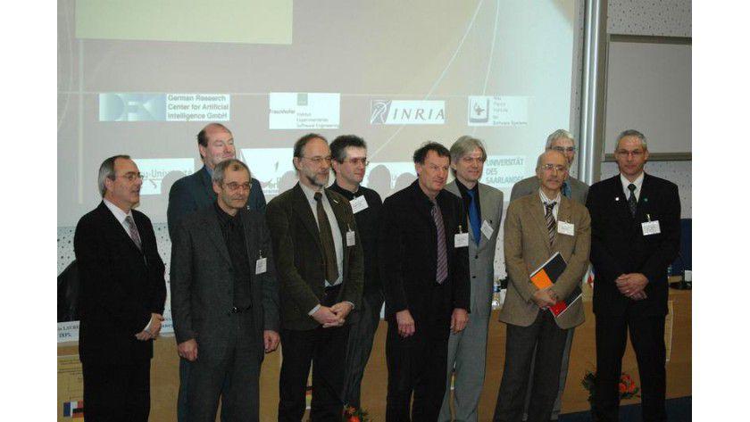 Unterzeichnung des deutsch-französischen Kooperationsvertrags. Foto: Fraunhofer IESE