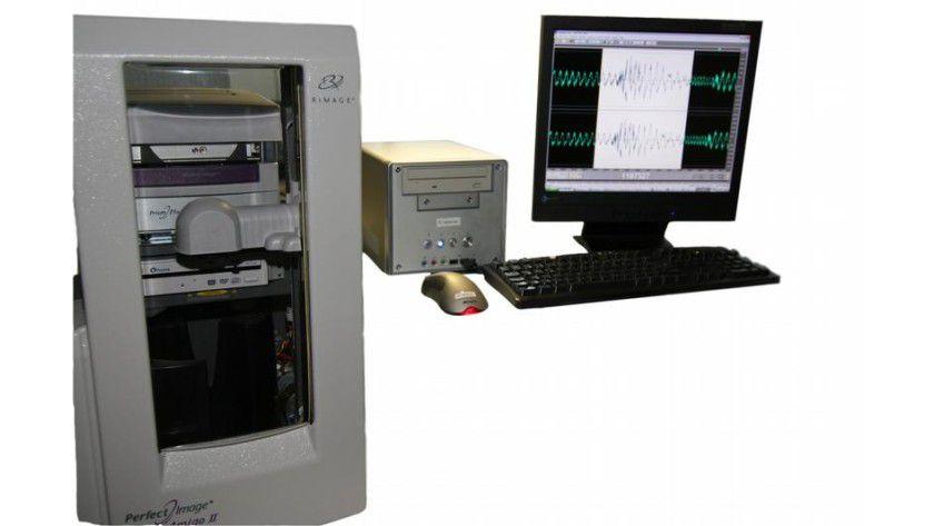 CD-Kopierstation mit integriertem Audio-Watermarking. Foto: Fraunhofer SIT