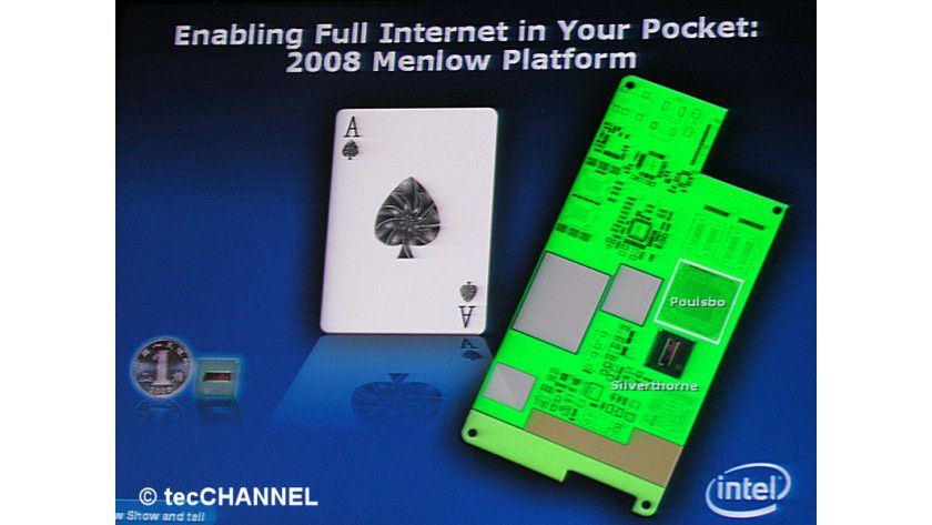 Menlow: Intels 2008er UMPC-Plattform setzt sich auch dem Silverthorne-Prozessor sowie dem Poulsbo-Chipsatz zusammen. Die Chips benötigten deutlich weniger Platz als ihre Vorgänger.