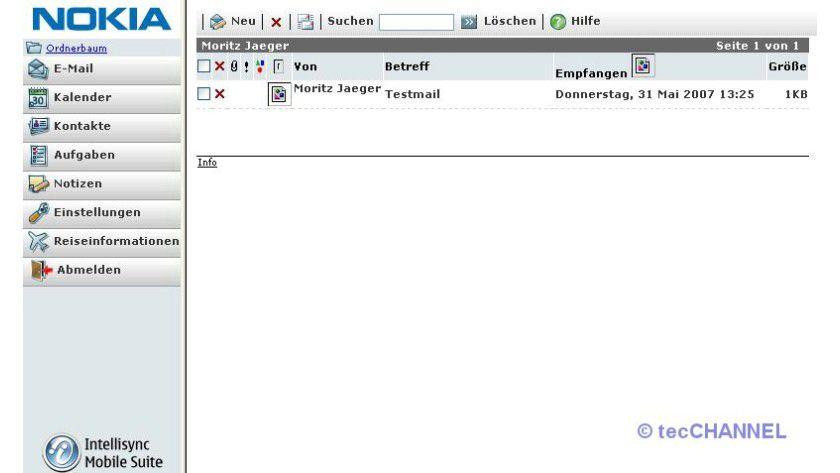 Standard: Die Intellisync-Weboberfläche ist aktuellen E-Mail-Programmen nachempfunden, User sollten sich also schnell zurechtfinden.