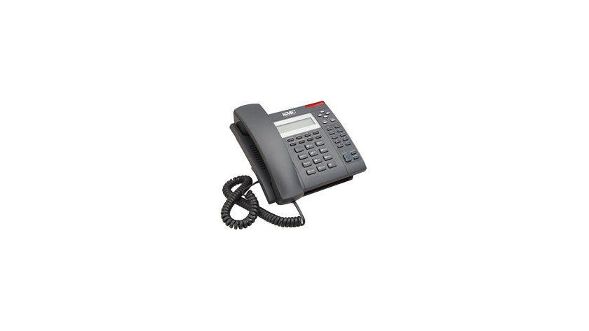 Inklusive 2-Port-Switch: Das TigerVoIP Desktop Telefon SMCDSP-200 lässt sich via PoE mit Strom versorgen.