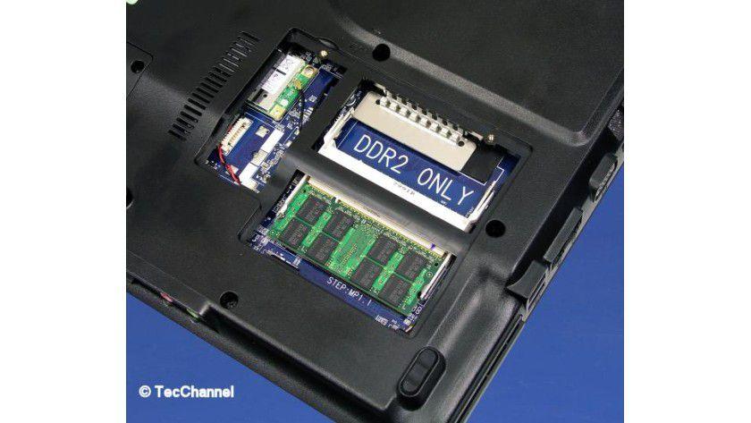 Erweiterbar: Für zusätzlichen Speicher steht noch ein freier SO-DIMM-Steckplatz zur Verfügung.