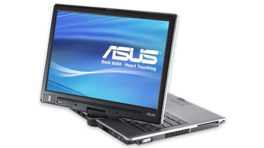 Asus R1E: Das Display des Tablet PC im Convertible-Design ist um 180 Grad schwenkbar. (Quelle: Asus)