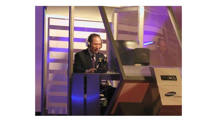 Lee Myung Bak bei den World Cyber Games 2003. Foto: WCG