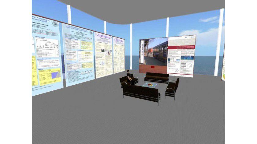 Virtuelle Uni Ulm in Second Life. Abb.: Uni Ulm