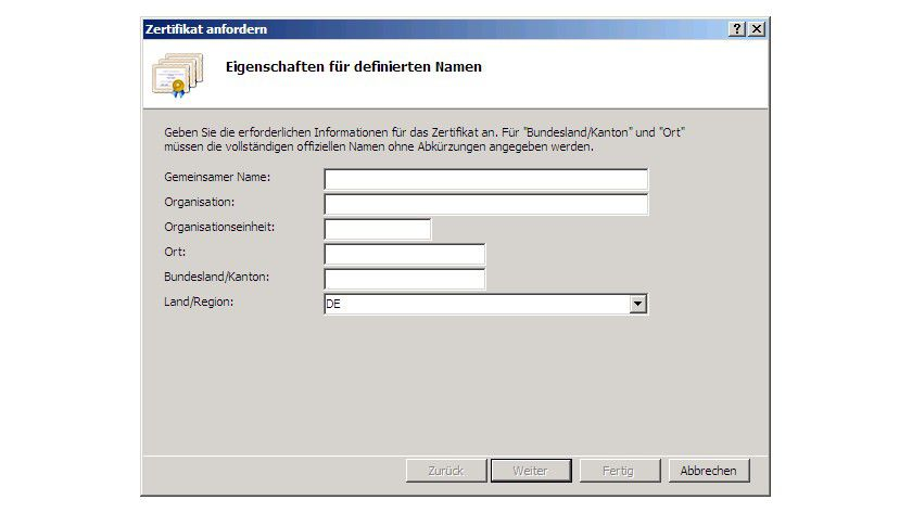 Öffentliche Zertifikate – Zertifikatsanforderung - Secure Socket ...