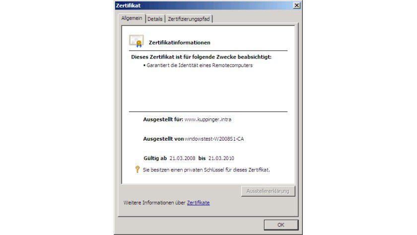 Selbstsignierte Zertifikate - Secure Socket Layer mit dem Internet ...