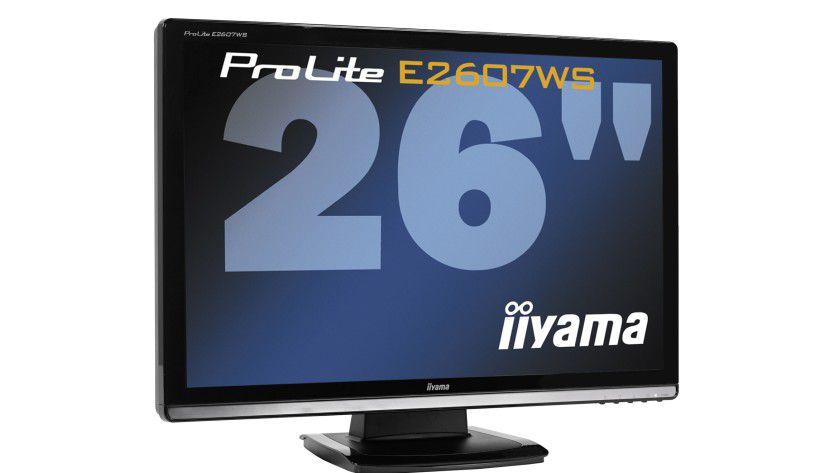 Iiyama ProLite E2607WS: Das 26-Zoll-Display arbeitet mit einer Auflösung von 1920 x 1200 Bildpunkten. (Quelle: Iiyama)