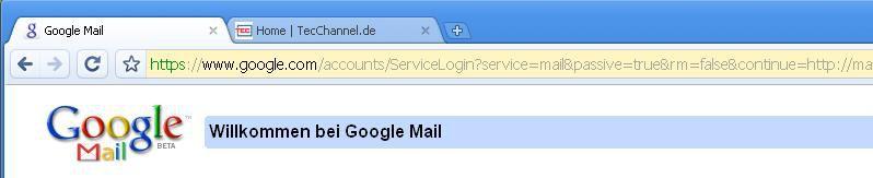 Bild: Sichere Seite: Websites mit SSL-Zertifikat erhalten eine ...