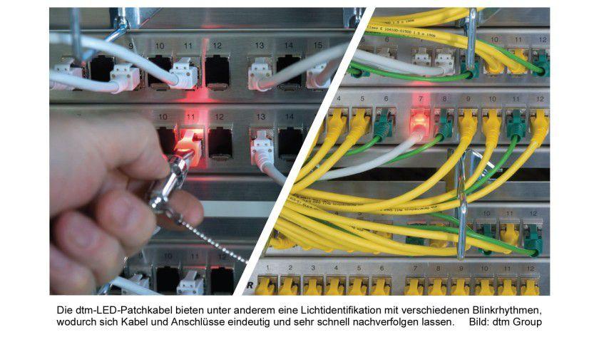 Leuchtkabel: Mit dem Blinken lassen sich Kabel und Anschlüsse eindeutig zuordnen.