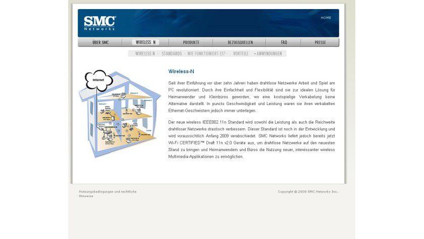 Wer wie was: SMC bietet in seinem Infoportal Fakten und Erläuterungen zu 802.11 WLANs an.