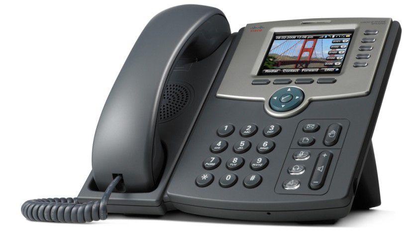 Bluetooth, WLAN und PoE: Das IP-Telefon SPA525G. (Quelle:Cisco)