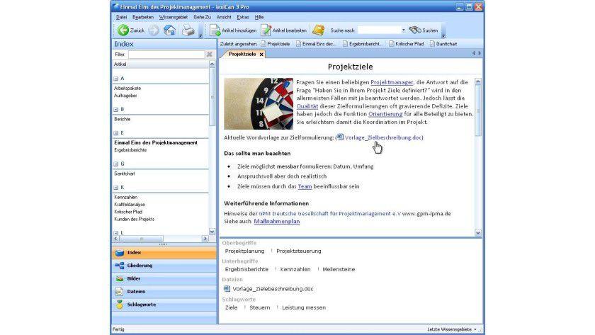 Screenshot lexiCan 3.0