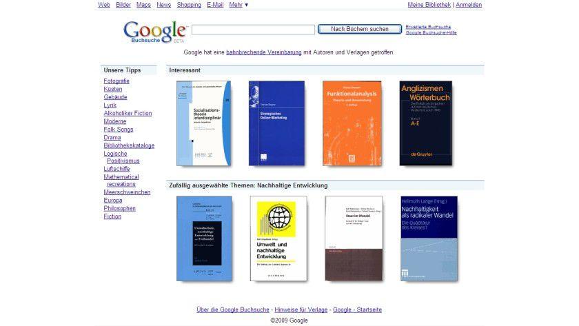 Mobile Buchsuche: Die Nutzung von Google Book Search ist jetzt auch mit einem Apple iPhone oder G1-Handy möglich.