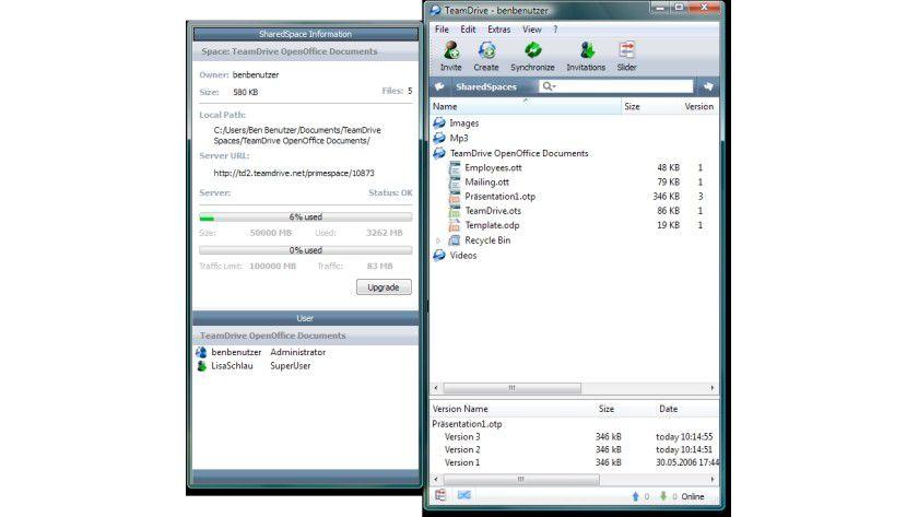 Gemeinsam arbeiten: Mit TeamDrive 2.0 bekommt OpenOffice eine kostenlose Online-Collaboration-Komponente.