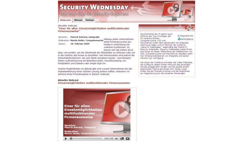 Jour-fixe: Jeden dritten Mittwoch im Monat finden Sie unter www.tecchannel.de/security-wednesday spannende Themen rund um IT-Sicherheit.