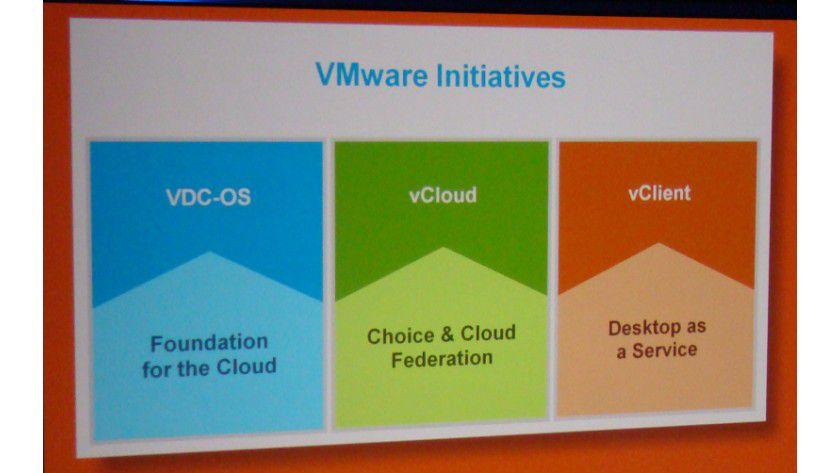 Drei Säulen: Das sind die künftigen Themen von VMware.