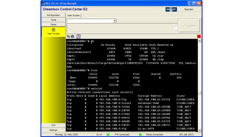 Erster Zugriff über Telnet, FTP und DCC - Workshop und Test