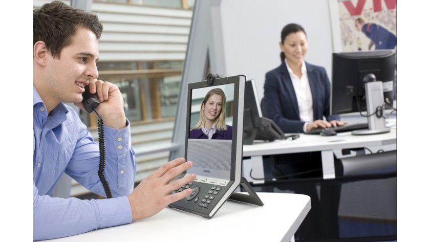 Sehen und hören: TANDBERGs neues Videotelefon E20 im Einsatz.