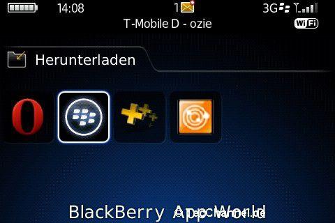 Eigene Anwendung: Die App World muss zunächst auf dem BlackBerry installiert werden.