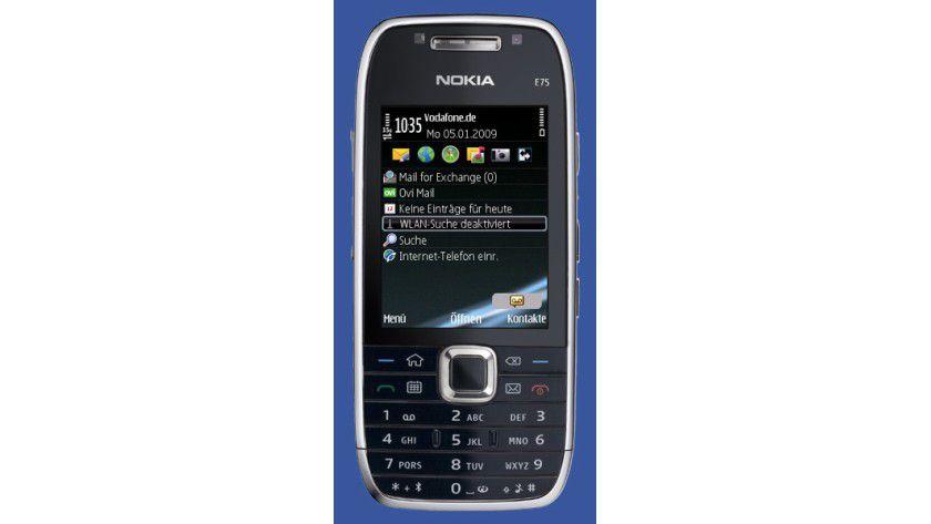 Nokia E75: Das Business-Gerät aus der E-Serie überzeugt durch hochwertige Verarbeitung. (Quelle: TecChannel/Nokia)