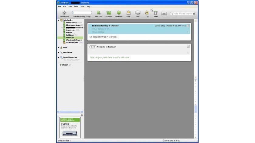 Merkzettel: Evernote speichert Notizen und synchronisiert sie über das Internet.