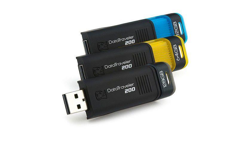 Kingston DataTraveler 200: Der USB-Stick ist mit bis zu 128 GByte Kapazität verfügbar. (Quelle: Kingston)