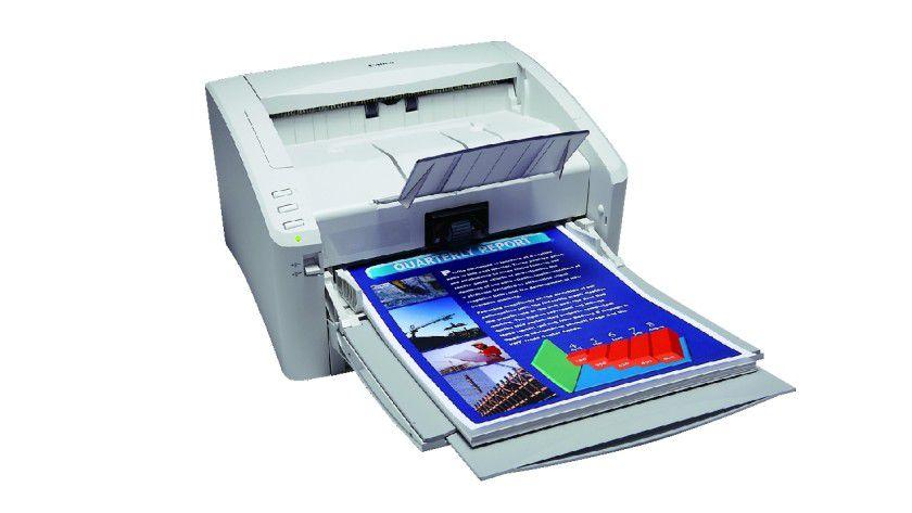 Canon DR-6010C: Der Abteilungsscanner liest bis zu 60 Seiten pro Minute in Farbe oder SW ein. (Quelle: Canon)