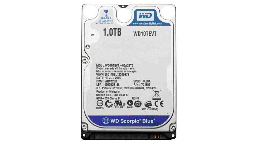 Kompaktes Terabyte: Western Digital bietet mit der Scorpio Blue WD10TEVT erstmals 1 TByte Kapazität im 2,5-Zoll-Formfaktor an. (Quelle: Western Digital)