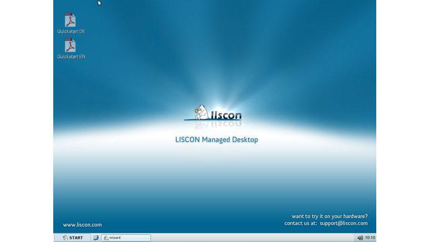 Liscon Managed Desktop: Ein virtueller Thin Client inklusive Quickstart-Guide steht zum Download parat. (Quelle: Liscon)