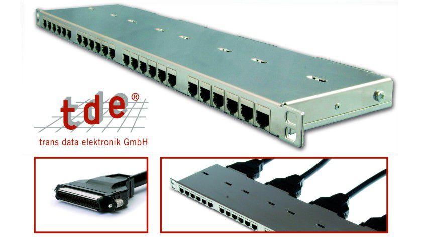 Schnell angeschlossen: Das Telco Panel ½ HE von tde macht Plug-and-Play im Rechenzentrum möglich.