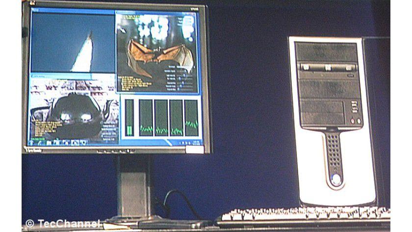 Aus zwei mach vier: Der Dual-Core-Prozessor Clarkdale kann dank zusätzlichem Hyper-Threading vier Threads parallel abarbeiten.