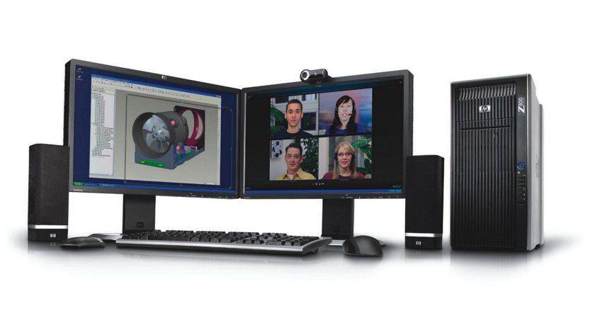 Videoconferencing: Mit SkyRoom sollen sich Mitarbeiter hochauflösend virtuell treffen können. (Quelle: Hewlett Packard)
