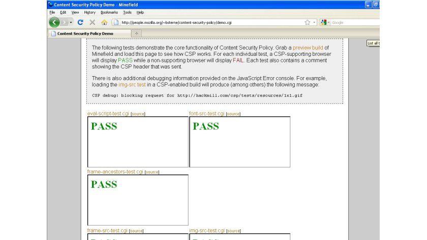 Im Hintergrund: Wenn der Code nicht in der Whitelist steht, kann CSP ihn blocken - der Nutzer merkt im besten Fall nichts.
