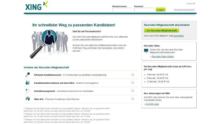 Suchhilfe: Xing bietet Headhuntern neue Suchfunktionen.