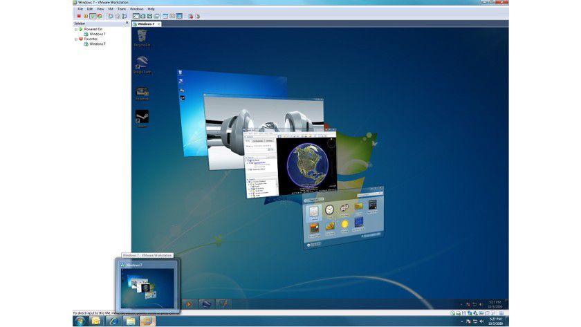 Neu: WMware Wörkstation 7 für Windows 7. (Quelle. VMware)